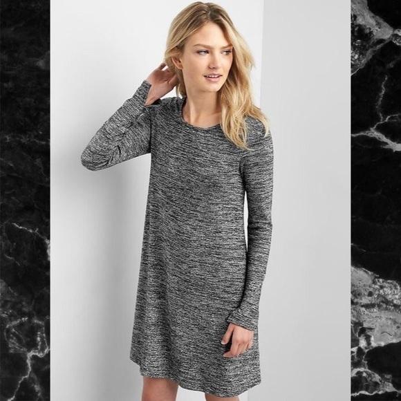 133e239bc2ae GAP Dresses   Skirts - Gap swing dress in metallic silver-black-grey